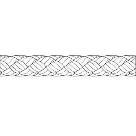 Liros Polyester Flechtleine 4 mm x 80 m  weiß