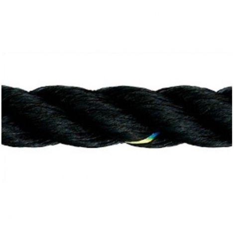 Liros Polyestertauwerk  3 mm x 175 m 3-schäftig gedreht schwarz