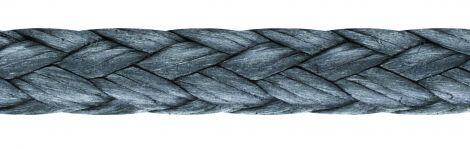 LIROS Dyneema® Flechtleinen Flechtschnur flach carbon - Spule 330 m