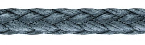 LIROS Dyneema® Flechtleinen Flechtschnur flach carbon - Spule 300 m
