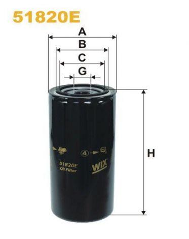 WIX Ölfilter 51820E Vetus VD20262, Volvo Penta 3831236