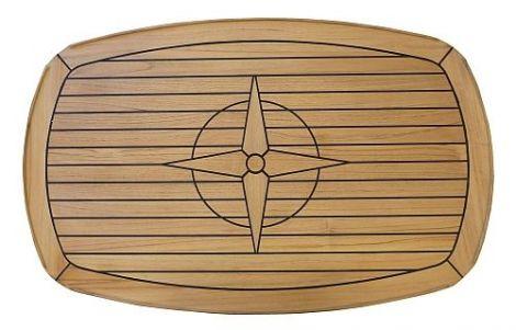 Tischplatte Teak oval