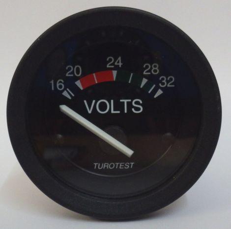 Philippi Voltmeter zur Anzeige der Batteriespannung 16-32 Volt