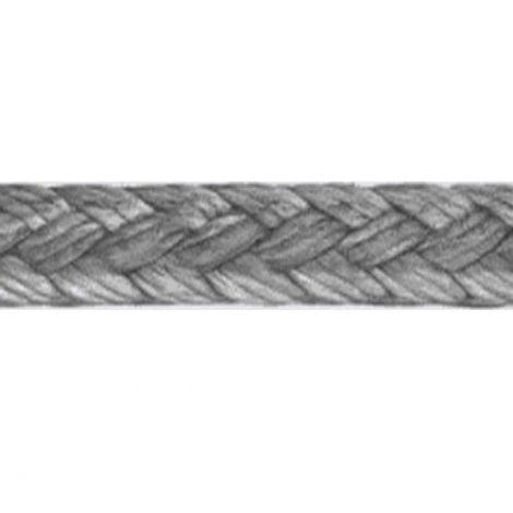 LIROS Dyneema Flechtschnur 0,22 mm - 400 m Spule silber