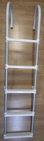 Badeleiter zum Überhängen mit 5 Stufen