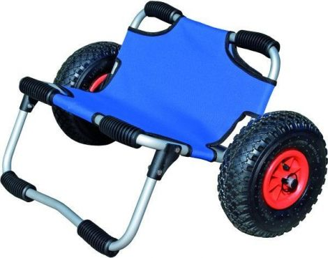 Kajakwagen mit blauem Sitz