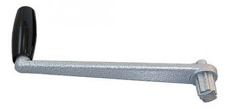 SEAWORLD Winschkurbel mit Sicherung, Aluminium, matt eloxiert