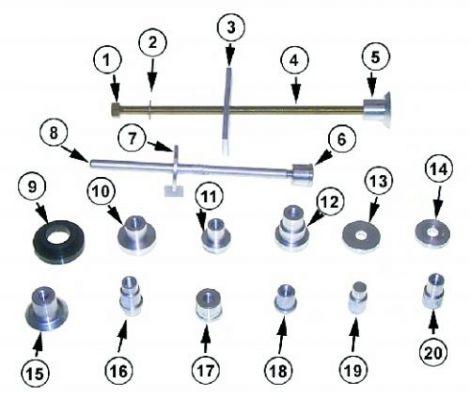 Mercury 91-31229A7 Lager Installations-Set Sierra 18-9820