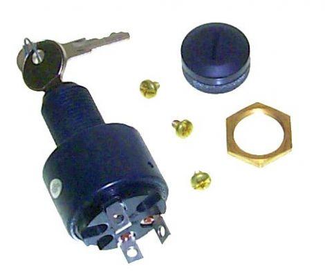 Zündschloß 3 Positionen - Einbautiefe bis 16 mm