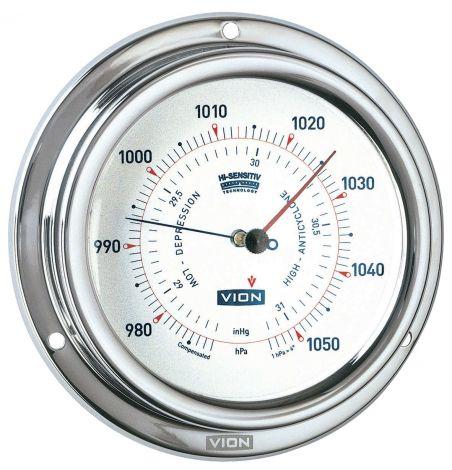 Vion Barometer Ø 127 mm aus poliertem, rostfreiem Stahl