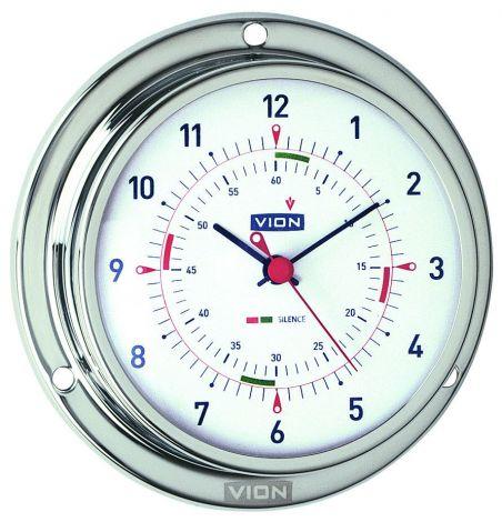 Vion Uhr Ø 127 mm aus poliertem, rostfreiem Stahl