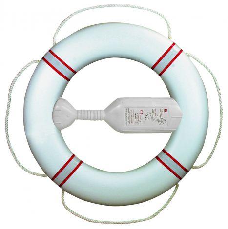 Fristad Plast Rettungsring FP380 mit Wurfleine, rot-weiß reflektierend