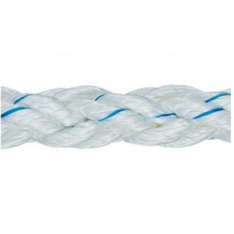 Liros Ropes Squareline PES Seile weiss-blau Spule