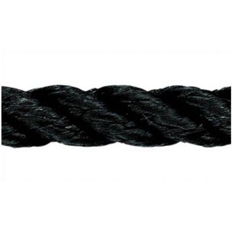 Liros Polyestertauwerk 12 mm x 83 m 3-schäftig gedreht schwarz