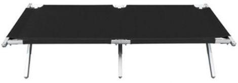 Feldbett klappbar Travelchair 180 x 53 cm schwarz seitlich 2