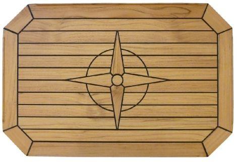 Tischplatte Teak 75 x 50 cm mit Sperrholzkern
