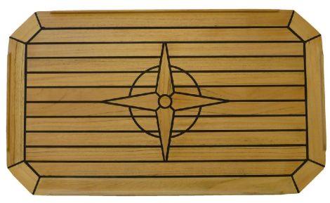 Tischplatte Teak 60 x 35 cm mit Sperrholzkern