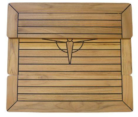 Tischplatte Teak klappbar 70 x 35 cm
