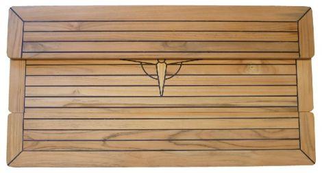 Tischplatte Teak klappbar 100 x 35 cm
