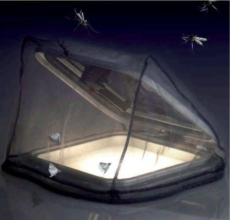 Mückennetz für Decksluken Gr. S  540 x 540 mm
