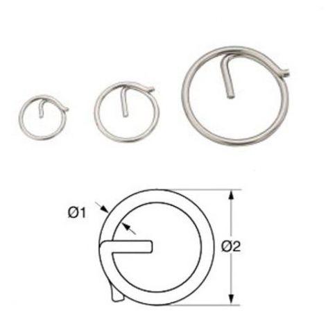 Ringsplint Edelstahl 2 mm x 23 mm 10er-Packung