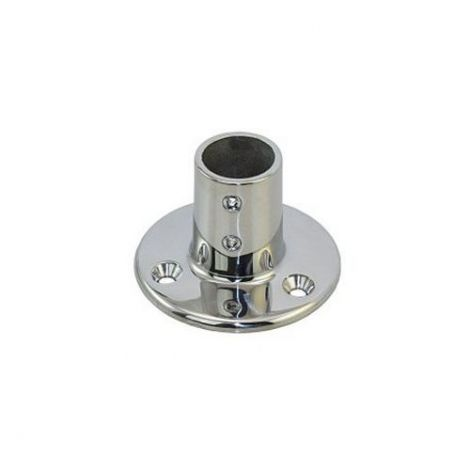 Relingbeschlag runde Basis Edelstahl 25mm Rohr 90 Grad