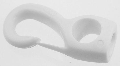 Plastikhaken weiss für Gummi 6 mm