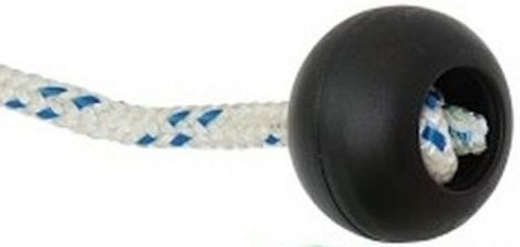 Griffkunststoffkugeln schwarz für 7 mm Taue