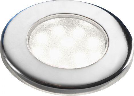 Deckenleuchte Corona SMD LED Leuchtmittel weiß, polierter Stahl