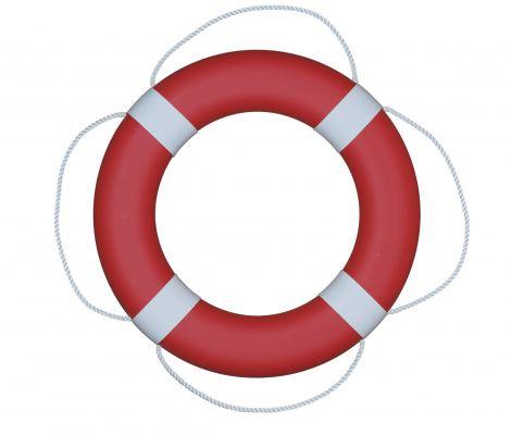 Fristad Plast Rettungsring FP380, rot mit weißen Manschetten